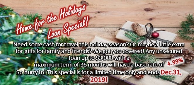 Home for the Holidays Loan Special